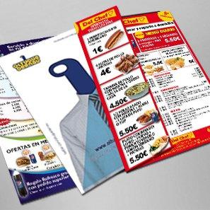 Imagen de imprimir folletos, flyers, catálogos, cartas de restaurante o tarjetas de visita en Granada