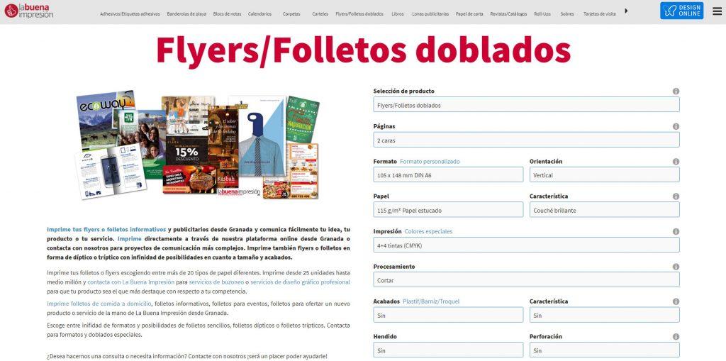 Pedir online productos de imprenta desde Granada
